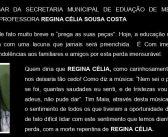 Nota de Pesar: REGINA CÉLIA SOUSA COSTA